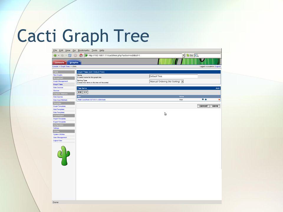 Cacti Graph Tree