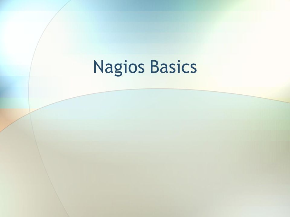 Nagios Basics