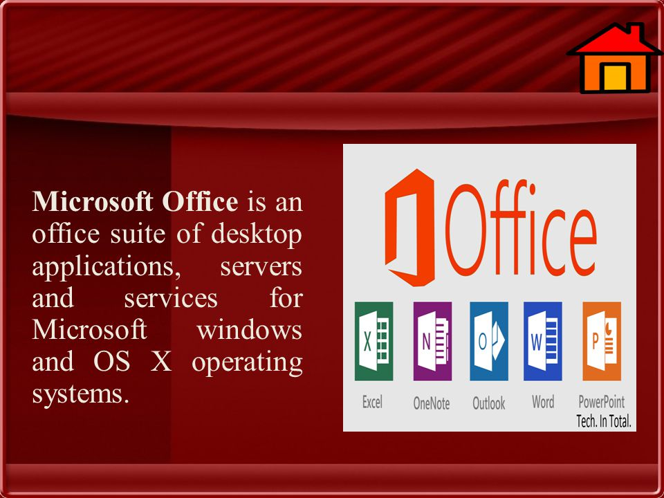 Microsoft Office is an office suite of desktop applications, servers and services for Microsoft windows and OS X operating systems.