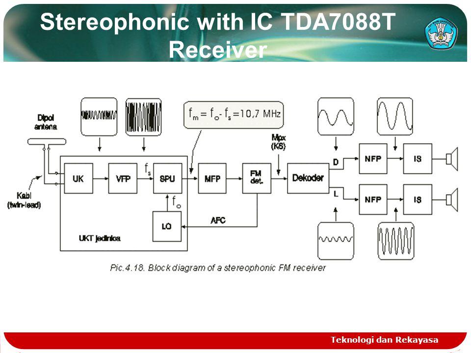 Stereophonic with IC TDA7088T Receiver Teknologi dan Rekayasa