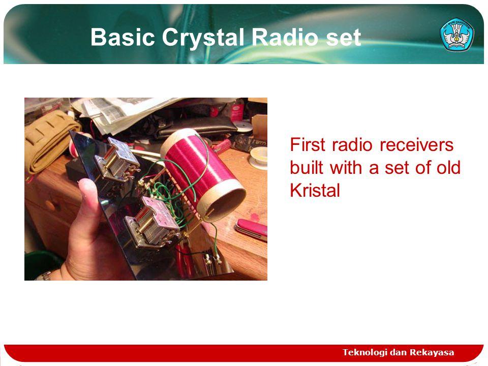 Basic Crystal Radio set Teknologi dan Rekayasa First radio receivers built with a set of old Kristal