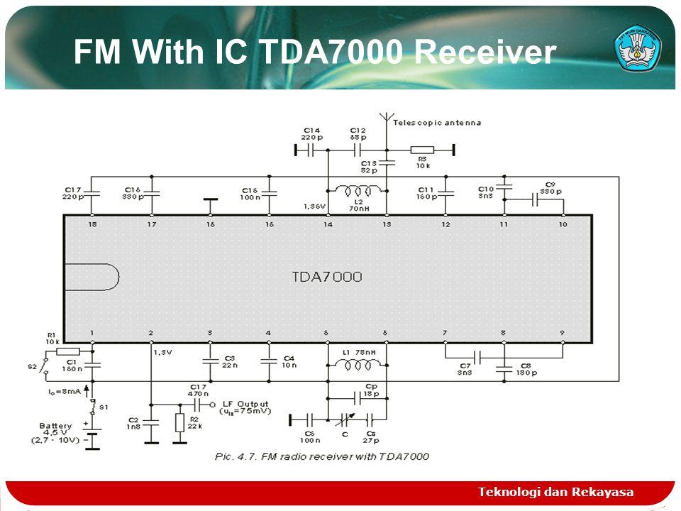 FM With IC TDA7000 Receiver Teknologi dan Rekayasa