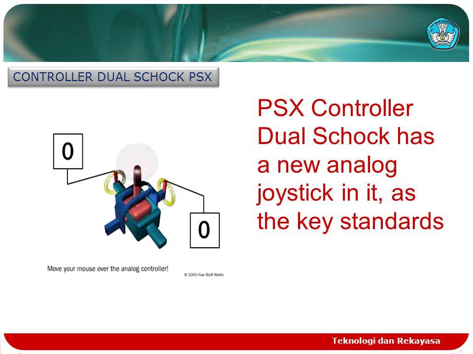 Teknologi dan Rekayasa CONTROLLER DUAL SCHOCK PSX PSX Controller Dual Schock has a new analog joystick in it, as the key standards