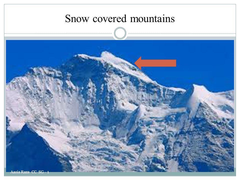 Snow covered mountains Aasia Raza CC SG - 1