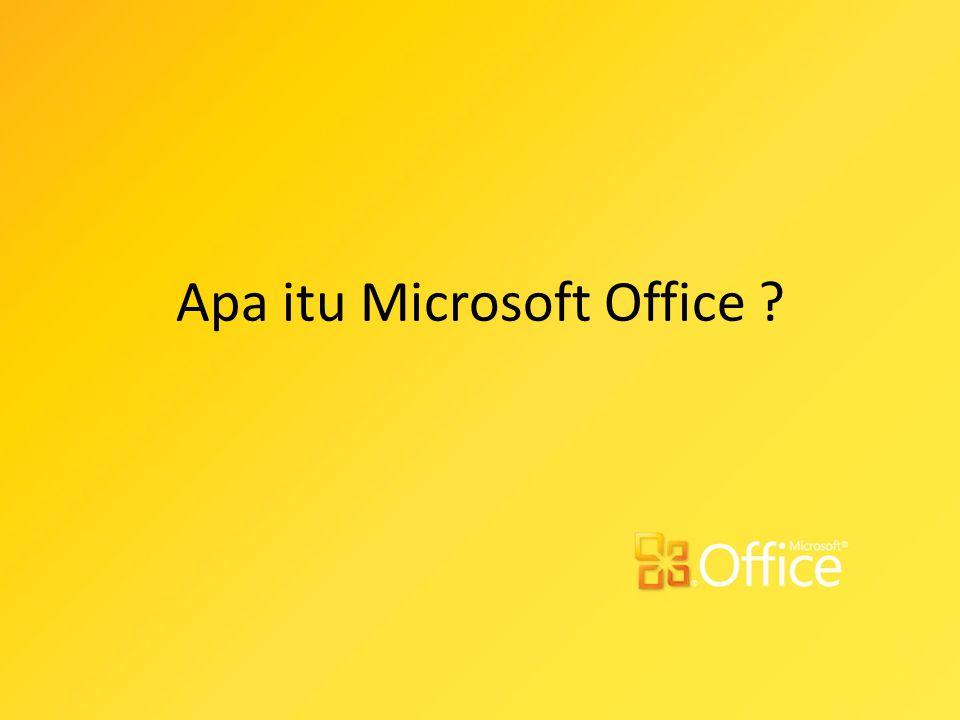 Microsoft Office adalah perangkat lunak paket aplikasi perkantoran buatan Microsoft dan dirancang untuk dijalankan di bawah sistem operasi Microsoft Windows dan Mac OS X.