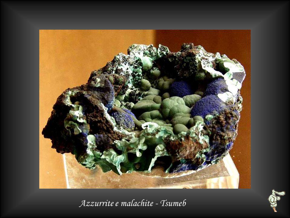 Azzurrite su quarzo - Messico (Conception de Oro)