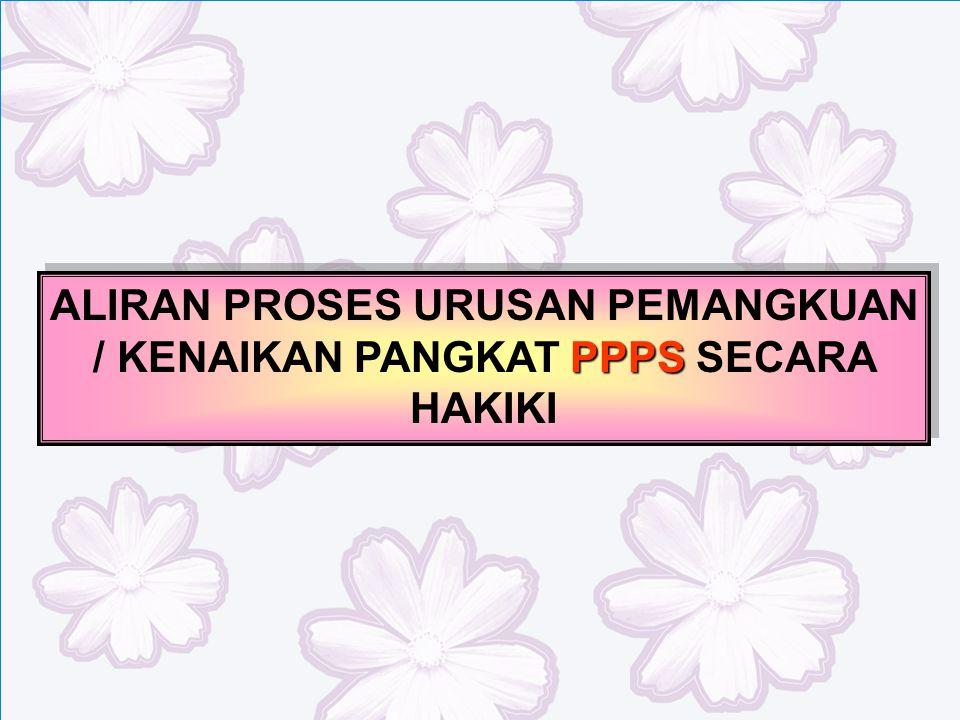 PPPS ALIRAN PROSES URUSAN PEMANGKUAN / KENAIKAN PANGKAT PPPS SECARA HAKIKI