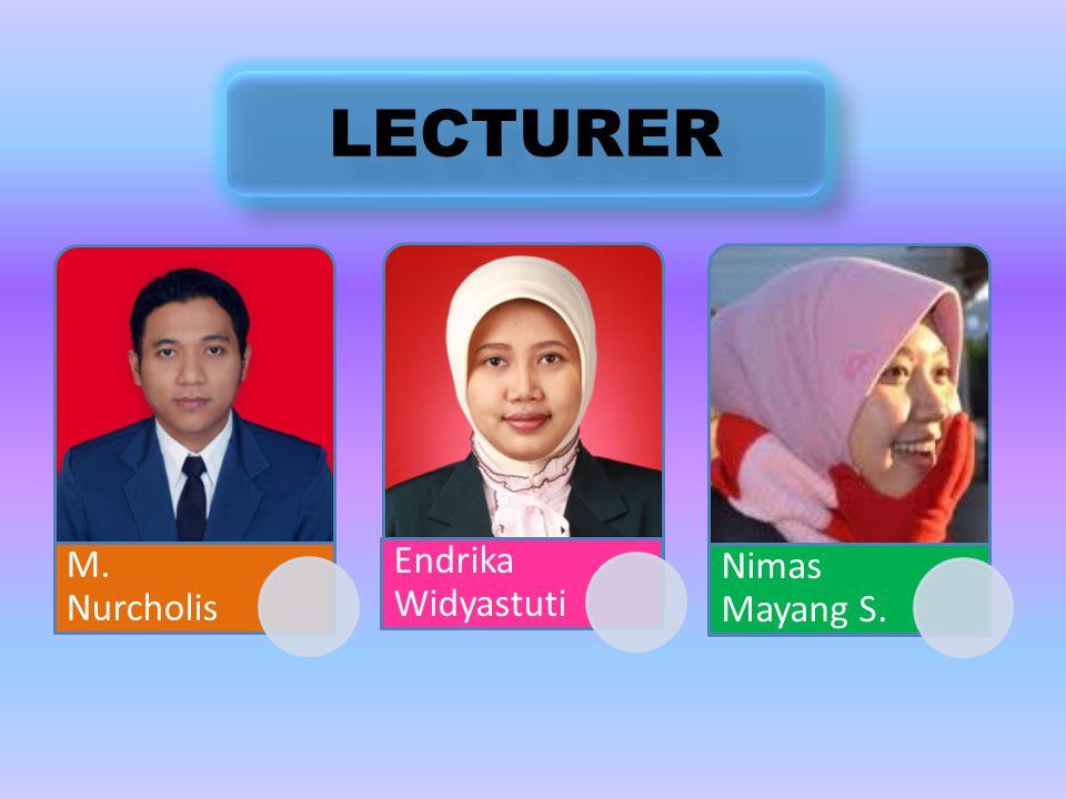BIOLOGY MAB 1201/3 (2-1) Mochamad Nurcholis Endrika Widyastuti Nimas Mayang S.