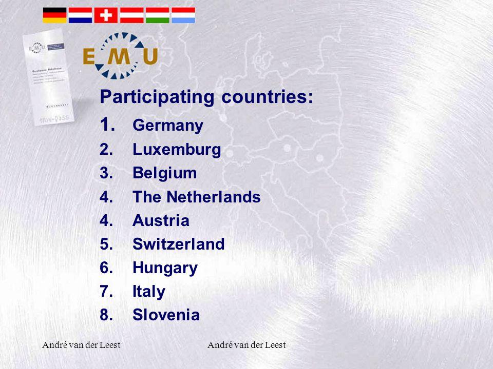 André van der Leest Participating countries: 1.