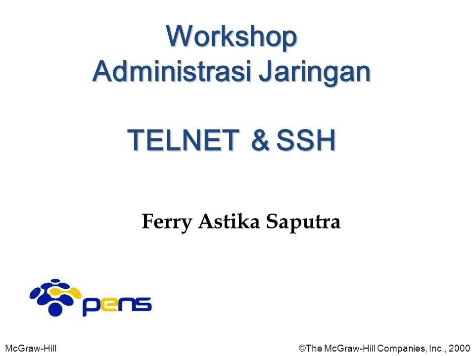McGraw-Hill©The McGraw-Hill Companies, Inc., 2000 Ferry Astika Saputra Workshop Administrasi Jaringan TELNET & SSH