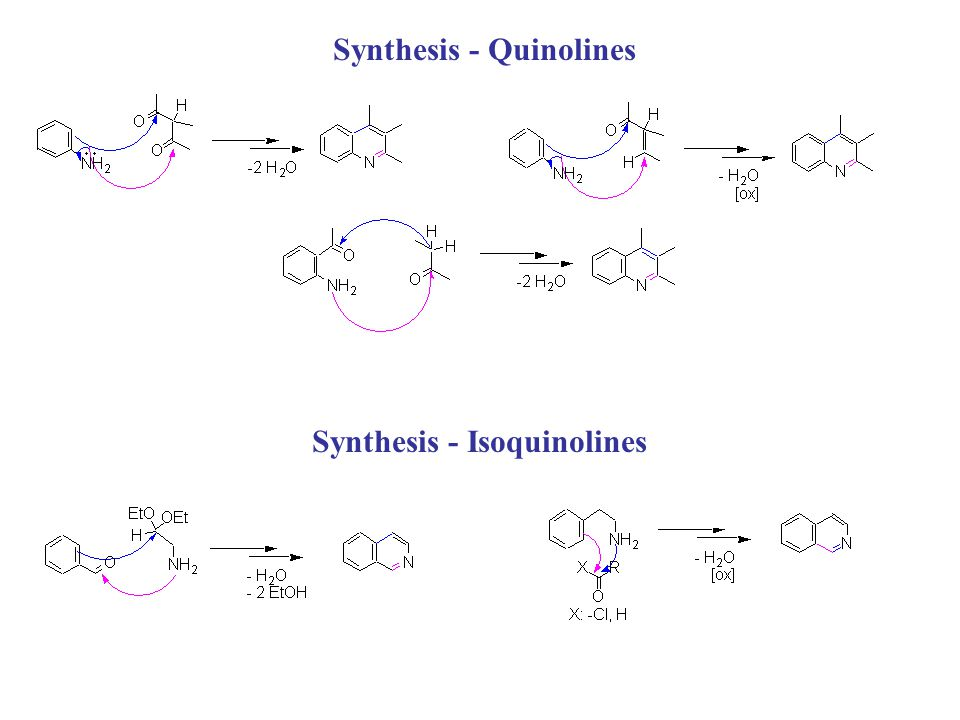 Synthesis - Quinolines Synthesis - Isoquinolines