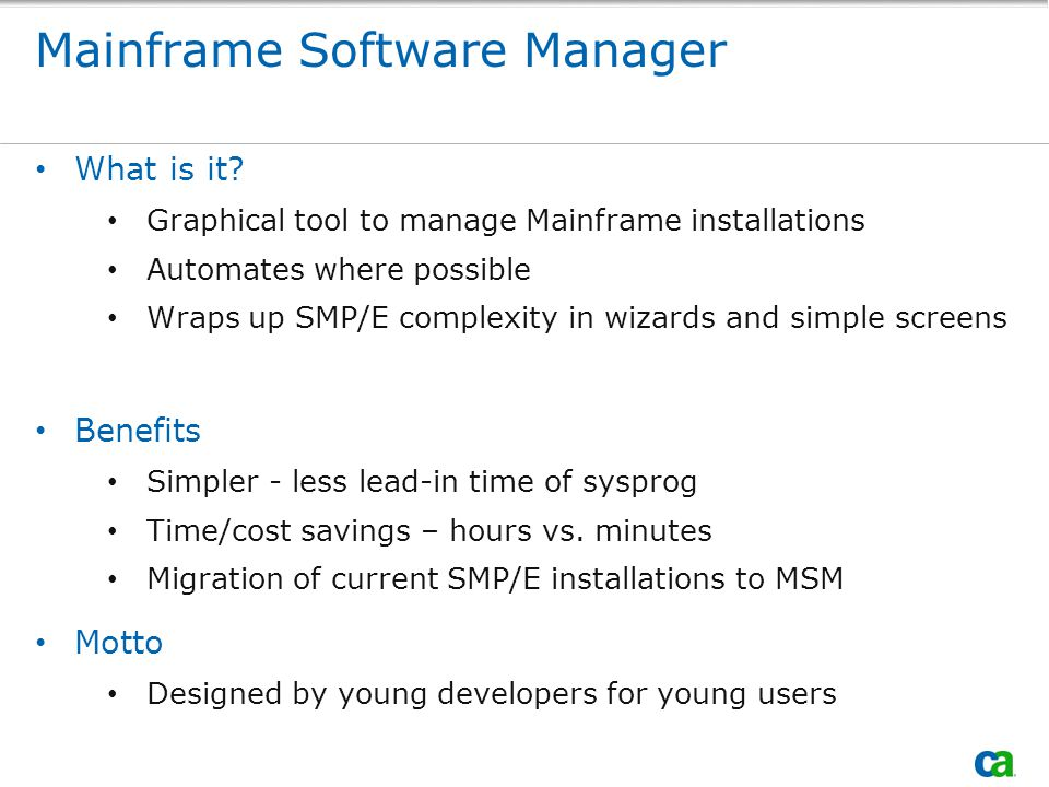 Mainframe Software Manager What is it.