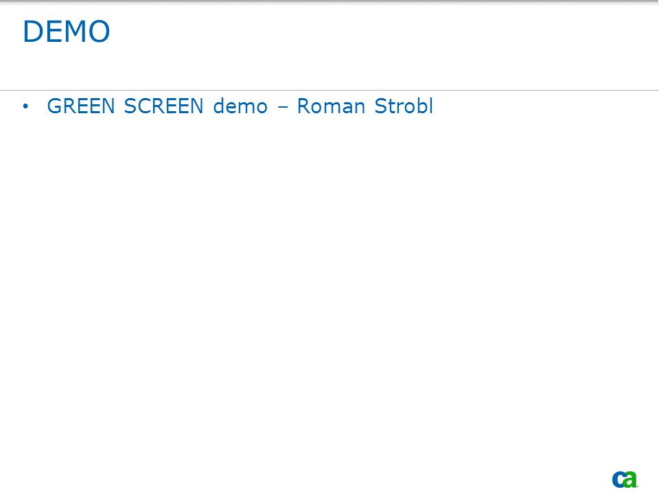 DEMO GREEN SCREEN demo – Roman Strobl