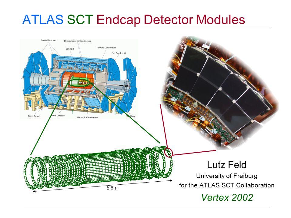ATLAS SCT Endcap Detector Modules Lutz Feld University of Freiburg for the ATLAS SCT Collaboration Vertex 2002 5.6m