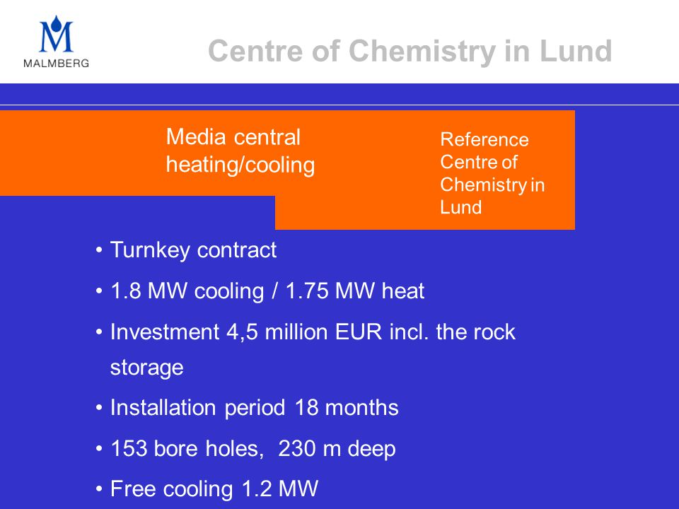 Turnkey contract 1.8 MW cooling / 1.75 MW heat Investment 4,5 million EUR incl.