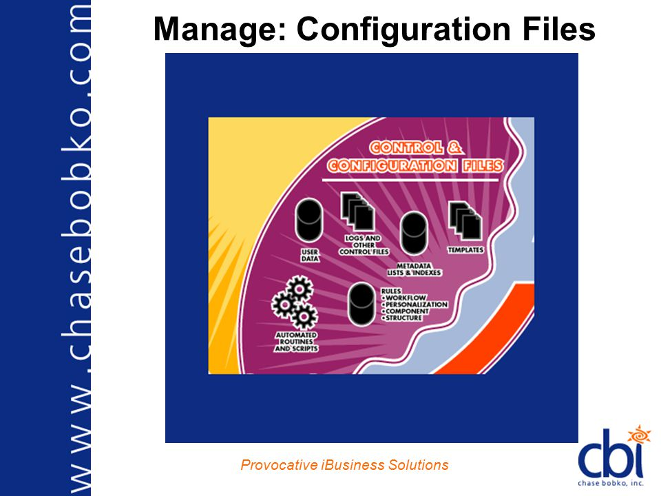 Provocative iBusiness Solutions Manage: Configuration Files