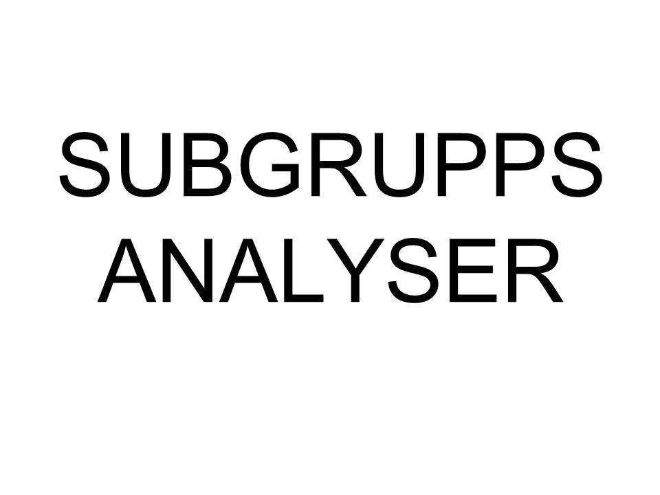 SUBGRUPPS ANALYSER