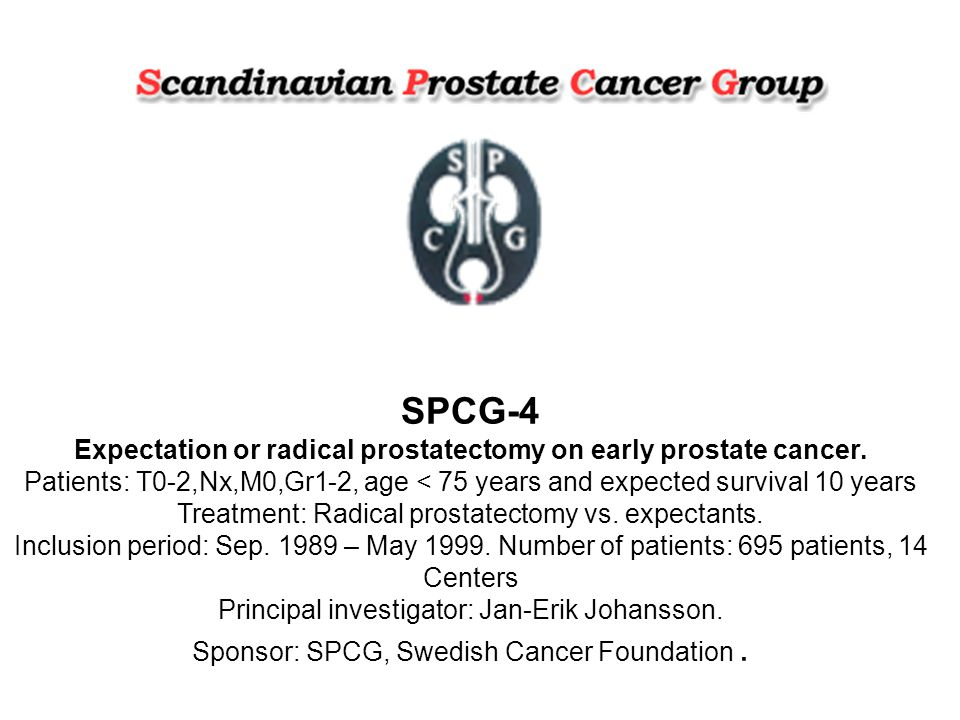SPCG-4 Expectation or radical prostatectomy on early prostate cancer.