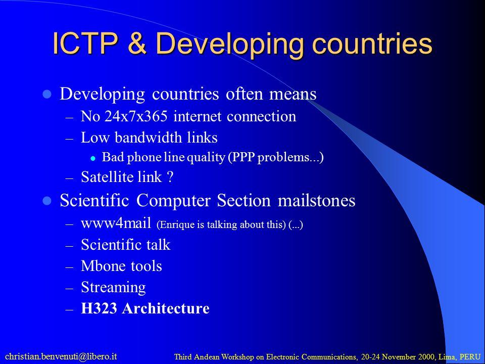 christian.benvenuti@libero.it Third Andean Workshop on Electronic Communications, 20-24 November 2000, Lima, PERU How to solve the firewall problem.