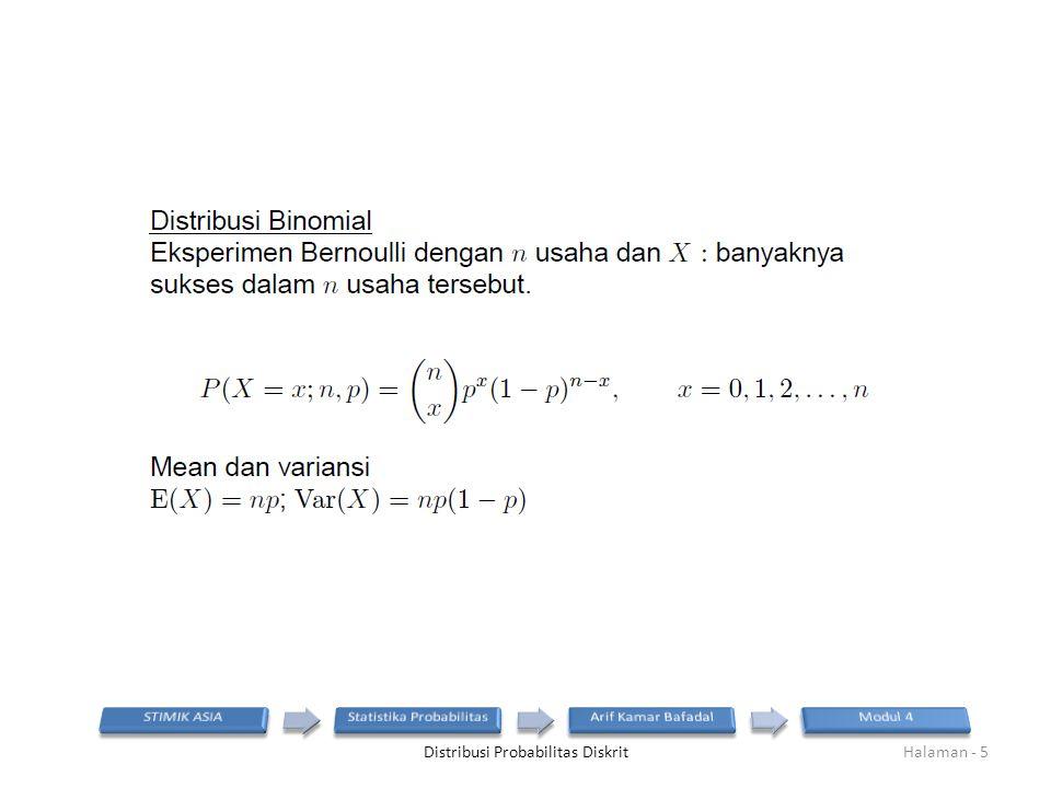 Distribusi Probabilitas DiskritHalaman - 5
