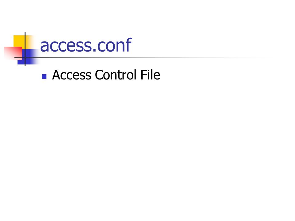 access.conf Options FollowSymLinks AllowOverride None Options Indexes FollowSymLinks AllowOverride None Allow from all