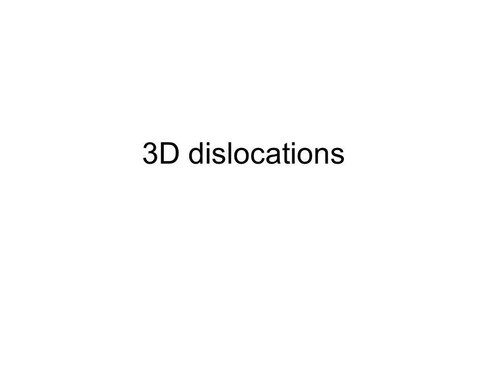 3D dislocations