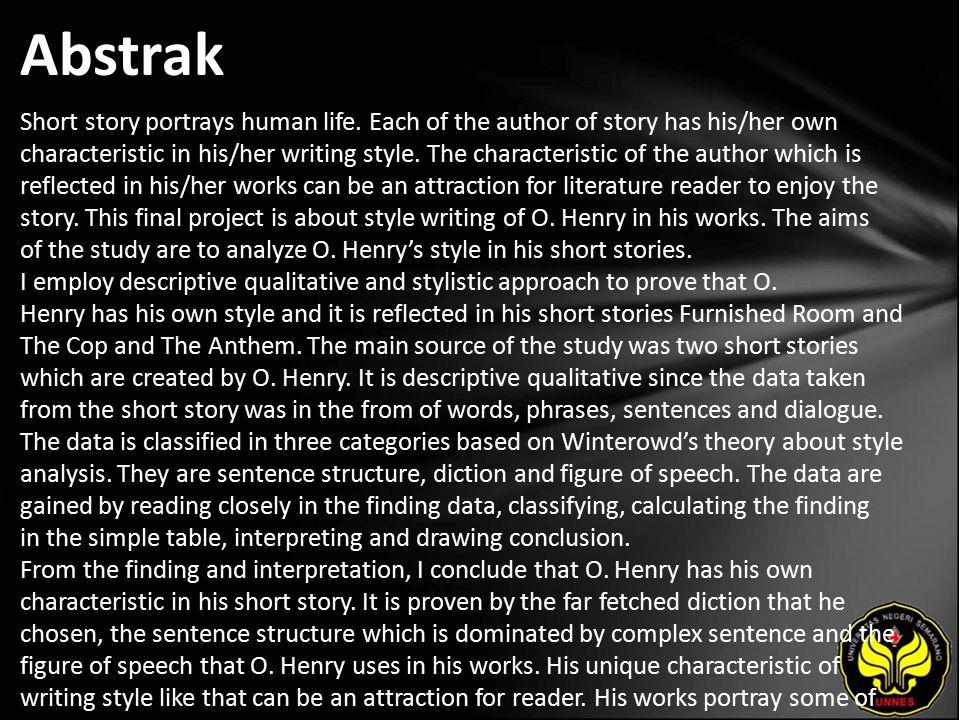 Kata Kunci Style, O. Henry, stylistic approach, English Literature