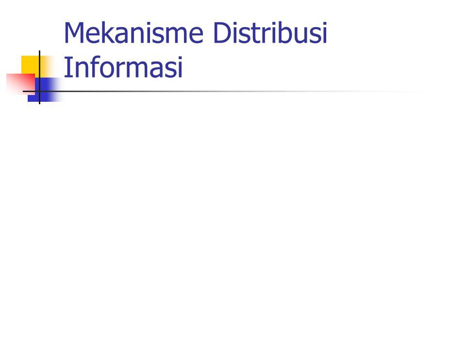 Mekanisme Distribusi Informasi
