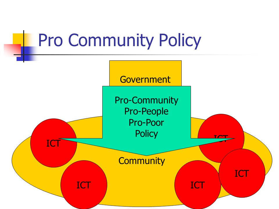 Pro Community Policy Government Community ICT Pro-Community Pro-People Pro-Poor Policy