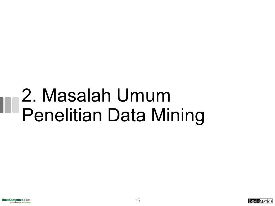 2. Masalah Umum Penelitian Data Mining 15