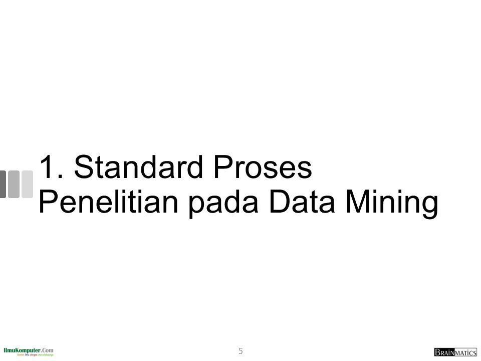1. Standard Proses Penelitian pada Data Mining 5