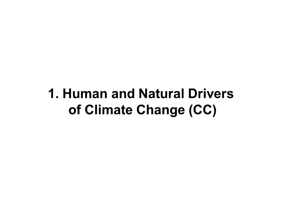 1. Human and Natural Drivers of Climate Change (CC)