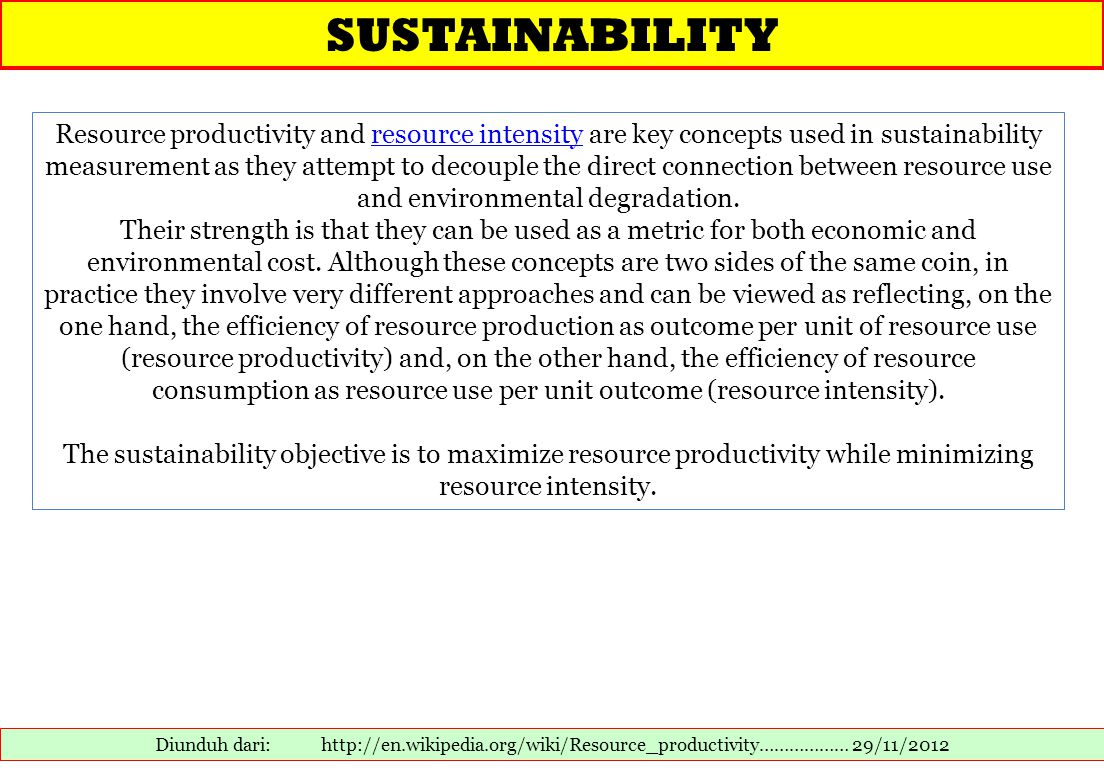 Mengukur Eco-efficiency 1.Eko-efisiensi sangat sulit diukur.