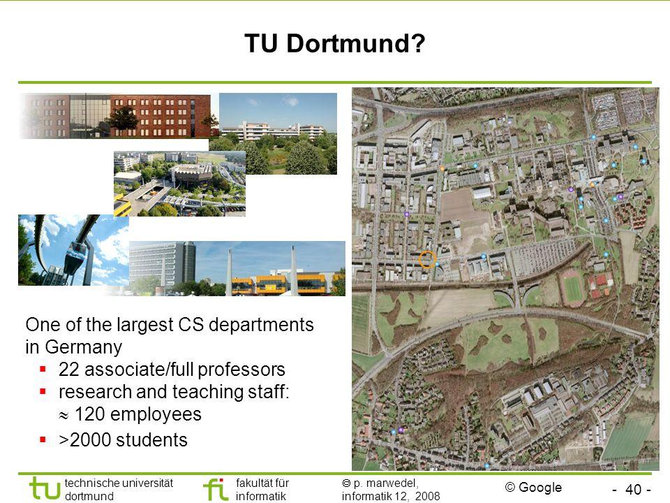 - 40 - technische universität dortmund fakultät für informatik  p.