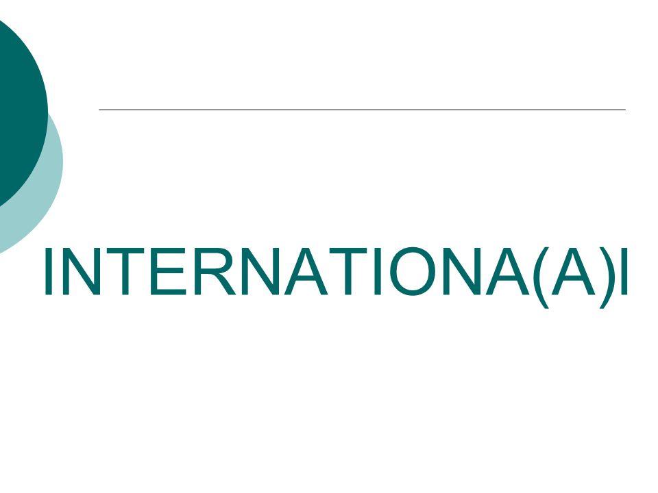 INTERNATIONA(A)l