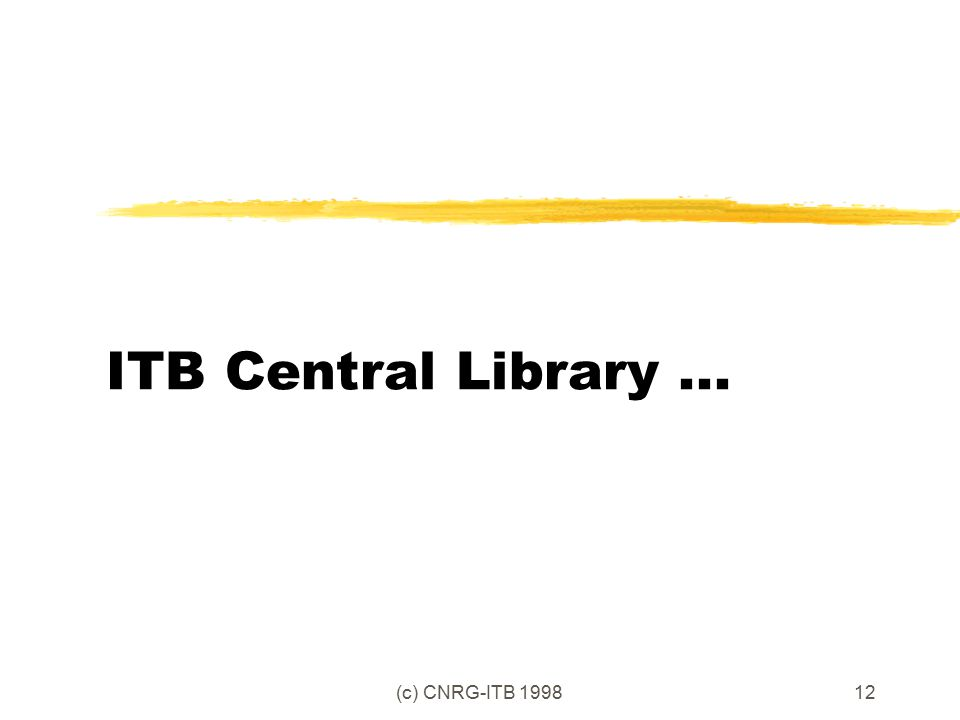 (c) CNRG-ITB 199812 ITB Central Library...