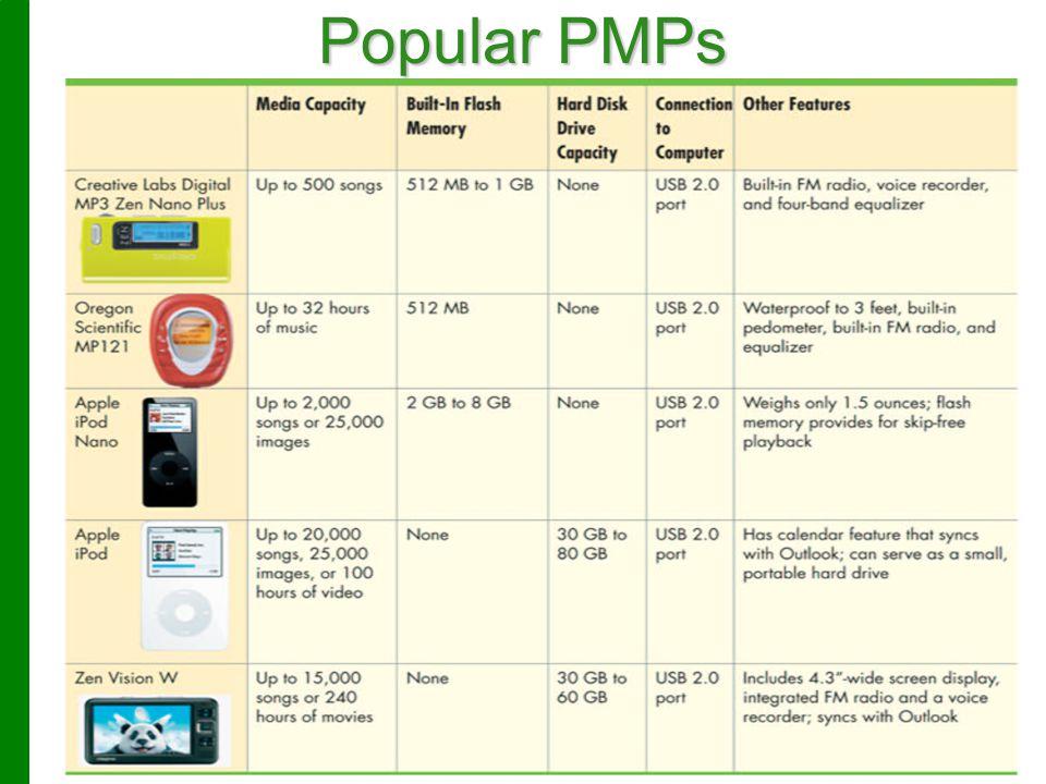 © 2009 Prentice-Hall, Inc.12 Popular PMPs