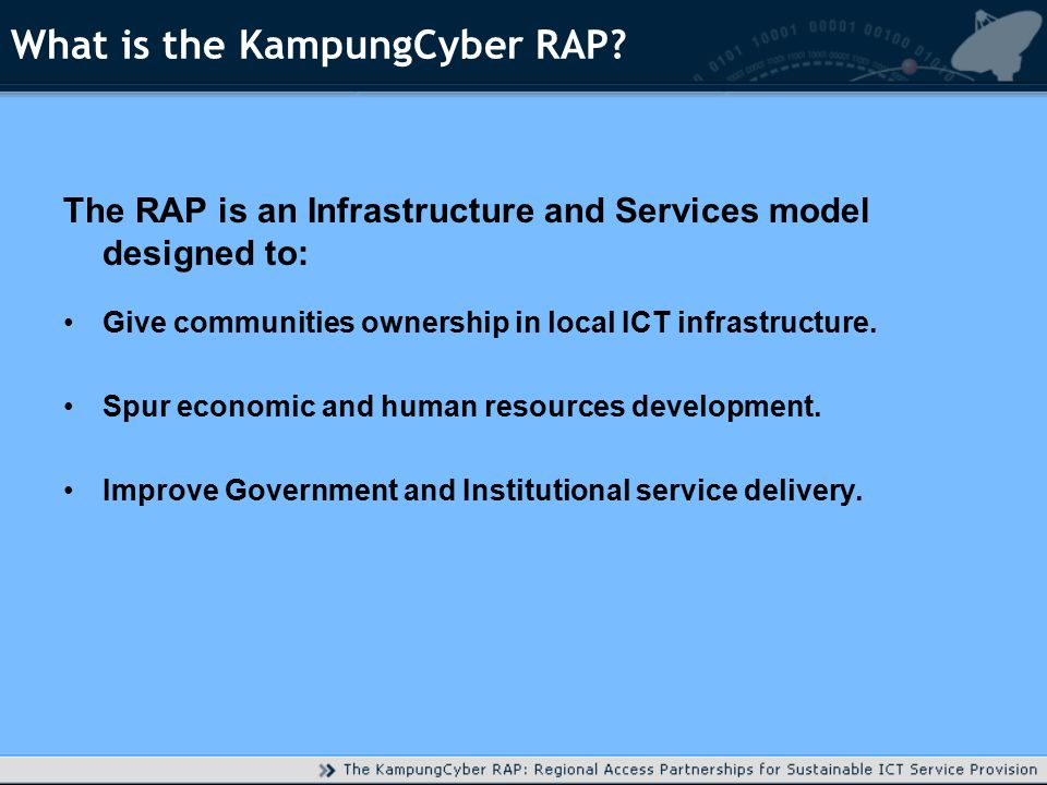 What is the KampungCyber RAP.