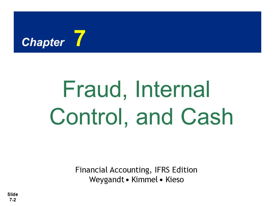 Slide 7-13 SO 3 Explain the applications of internal control principles to cash receipts.