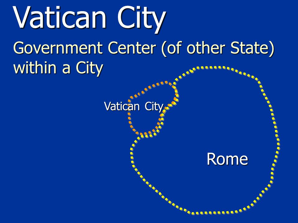 Government Center (of other State) within a City Vatican City Rome