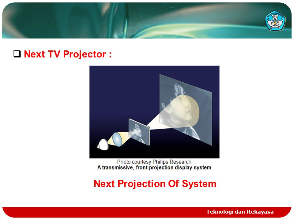 Teknologi dan Rekayasa  Next TV Projector : Next Projection Of System