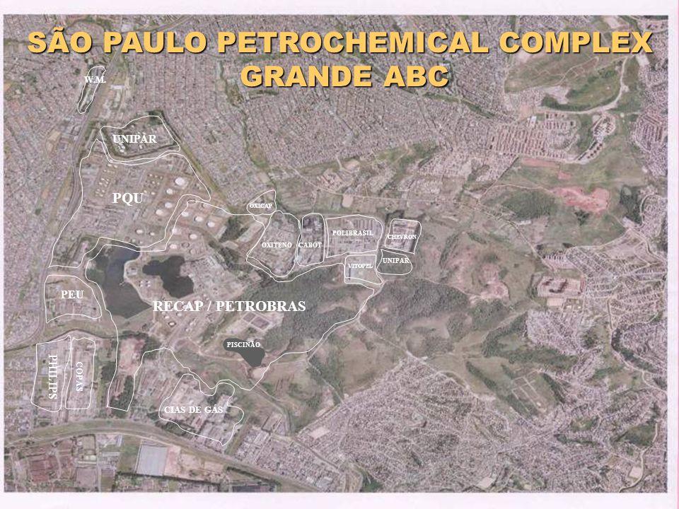 MAY/2001 SÃO PAULO PETROCHEMICAL COMPLEX GRANDE ABC GRANDE ABC UNIPAR PEU PQU UNIPAR CHEVRON OXITENO OXICAP CABOT POLIBRASIL VITOPEL W.M. PHILIPS CIAS
