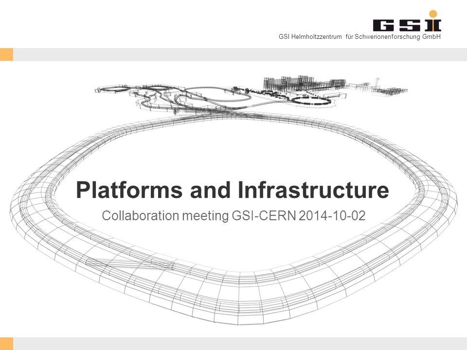 GSI Helmholtzzentrum für Schwerionenforschung GmbH Platforms and Infrastructure Collaboration meeting GSI-CERN 2014-10-02