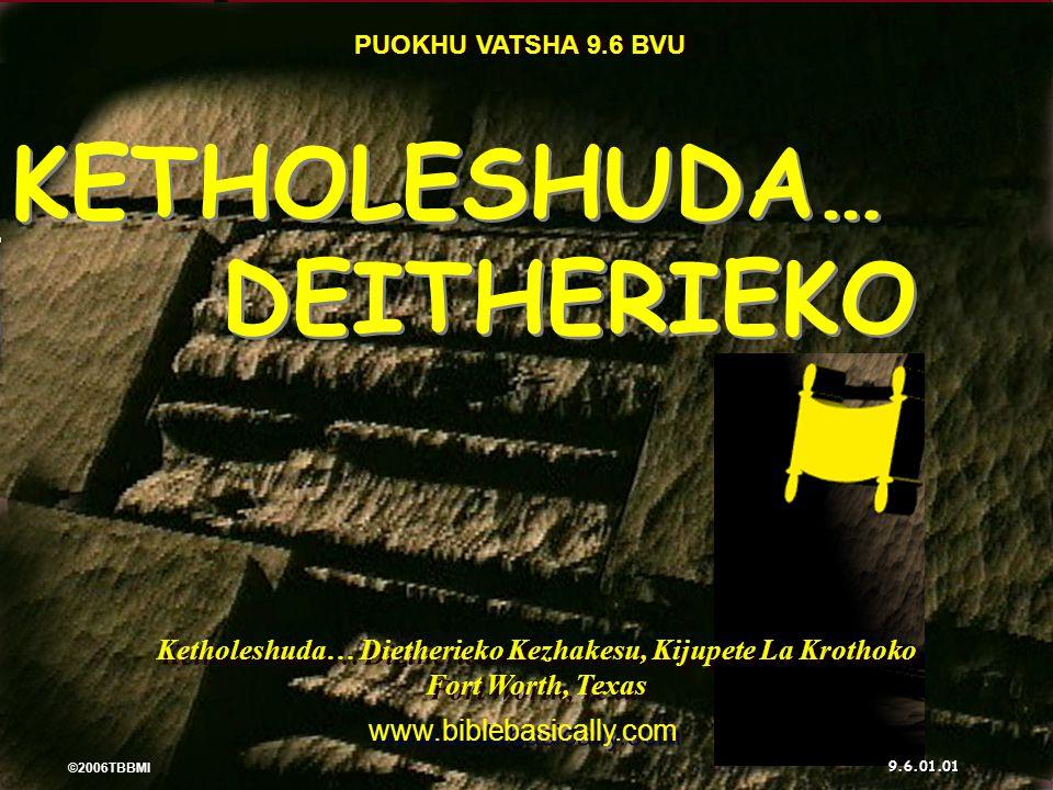 ©2006 TBBMI 9.6.01. SULA KEDIPUO GA? 20