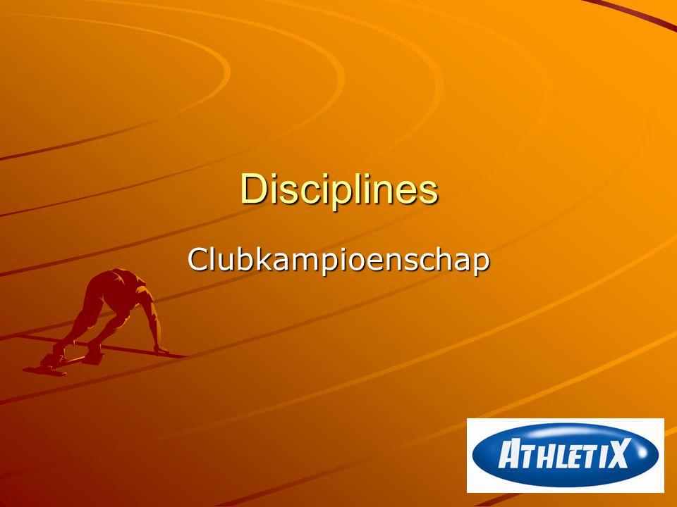 Disciplines Clubkampioenschap