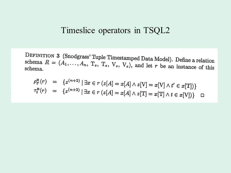 Timeslice operators in TSQL2