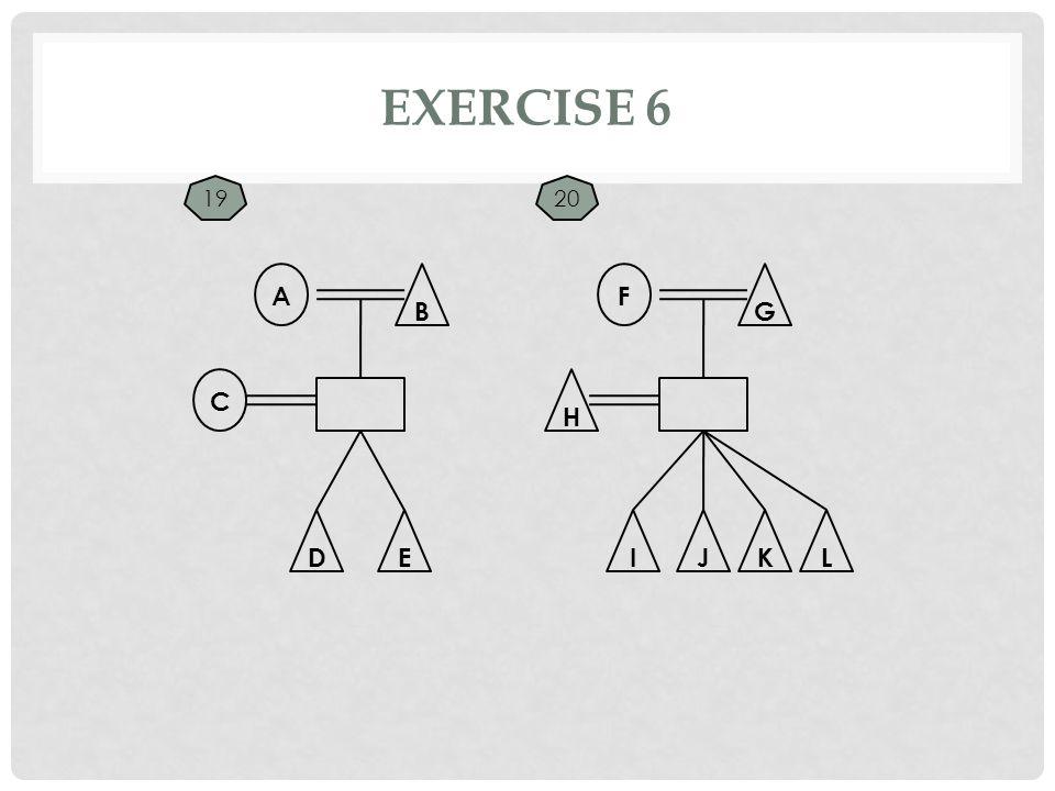 EXERCISE 6 C A B F G EDJIK H L 1920