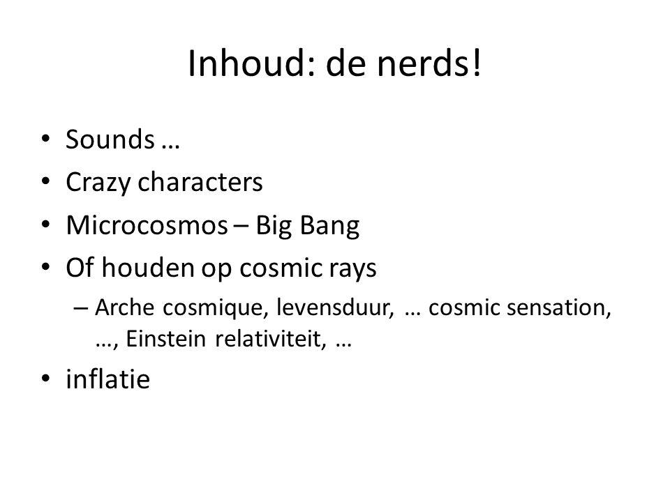 Inhoud: de nerds.