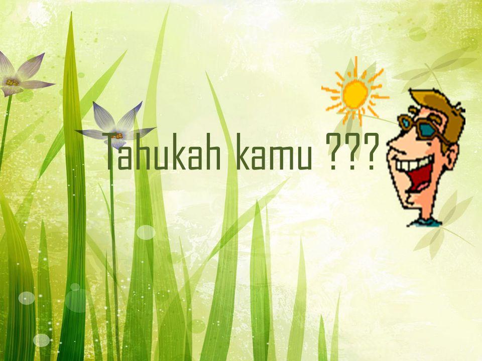 Tahukah kamu ???
