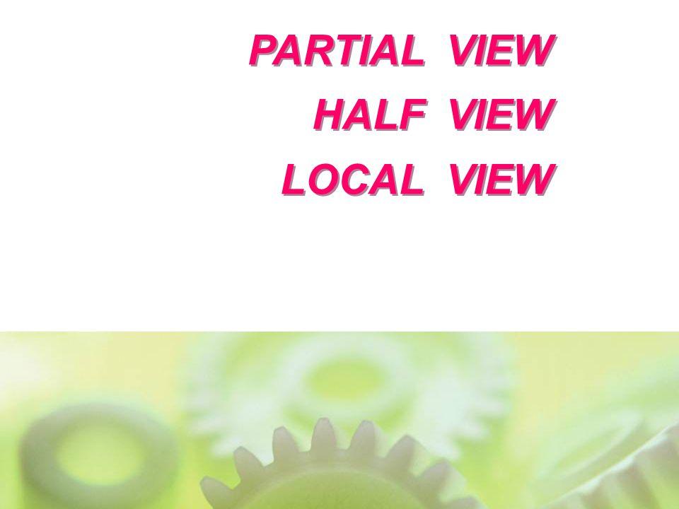 PARTIAL VIEW HALF VIEW LOCAL VIEW PARTIAL VIEW HALF VIEW LOCAL VIEW